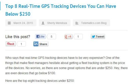 gps tracker price